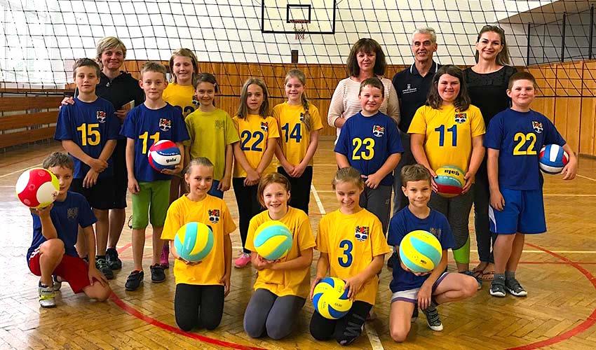 Nadační fond podpořil volejbal na Základní škole v Brtnici