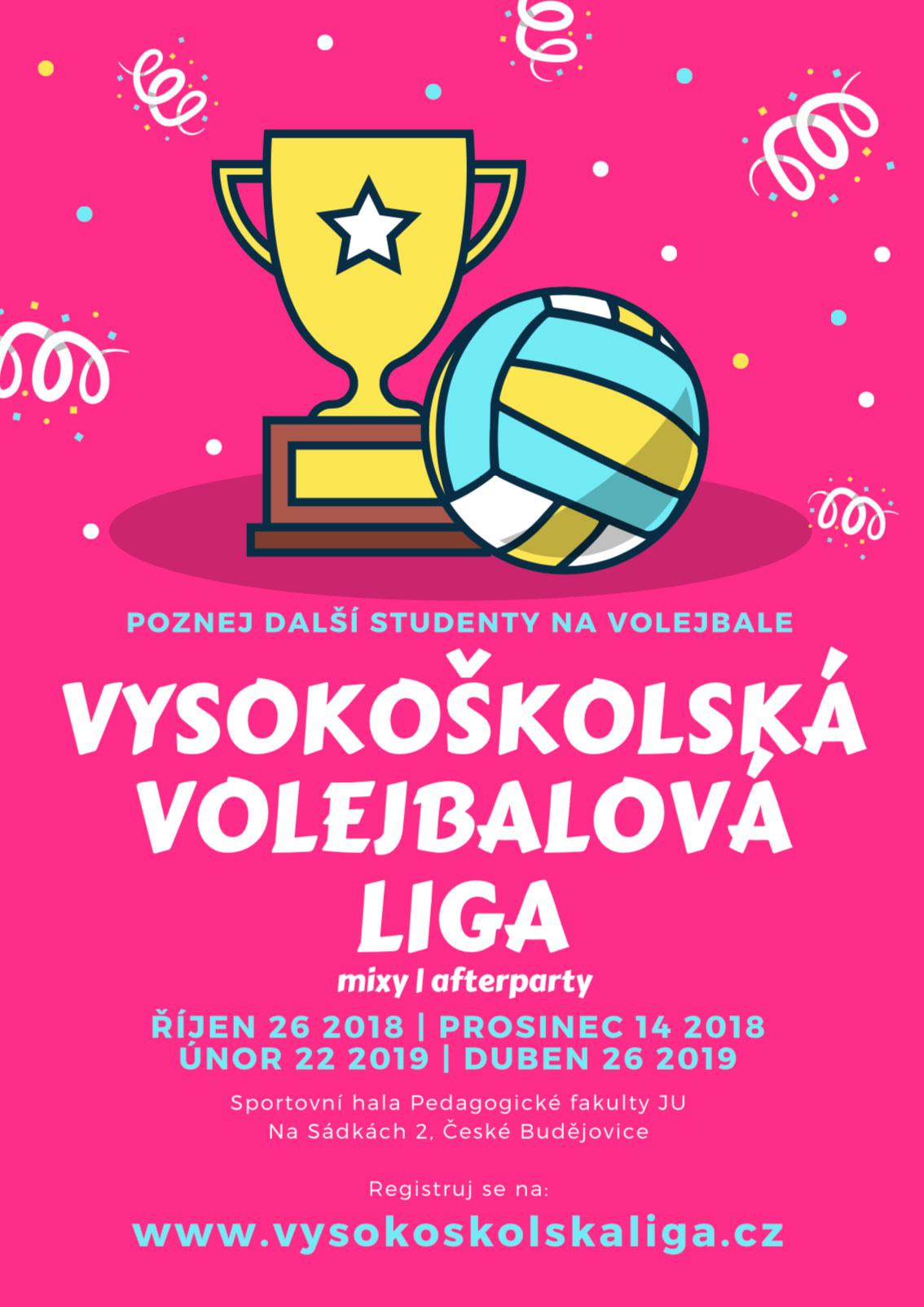 vysokoškolská volejbalová liga 2018 plakát