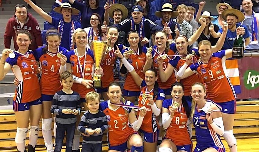 První trofej je doma! Volejbalistky Olomouce slaví zisk Českého poháru