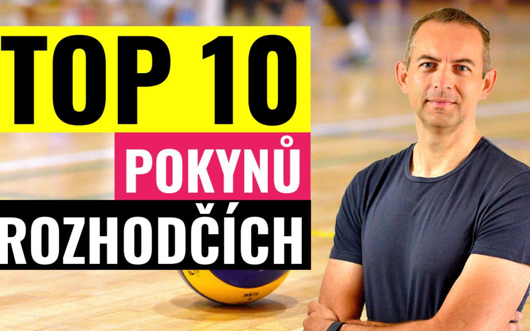 TOP 10! Nejpoužívanější pokyny rozhodčích volejbalu