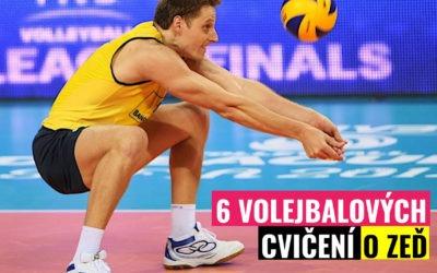 6 volejbalových cvičení o zeď