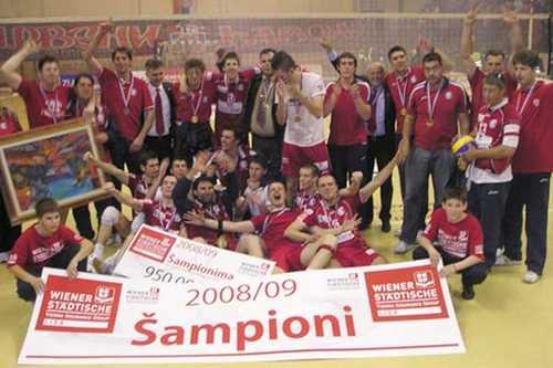 serbian volleyball champion 2008/2009