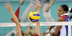 Volleyball exercise: Spike to zone