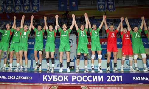 Novosibirsk with Russian Cup in hands