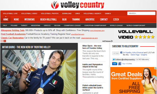 Volleycountry: The real mobile volleyball site