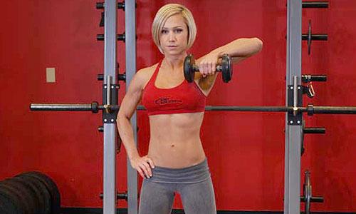Warm-up exercise: Complex barbel single arm jerk lunge