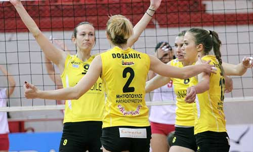 Women Photos: Olympiacos Won AEK in Cup Semifinal