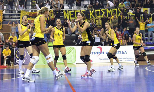 AEK women's team, made the first step to next round