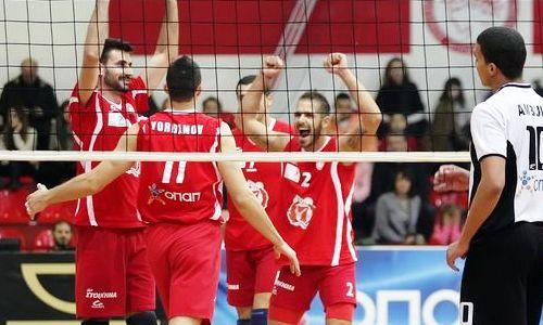 Olympiakos stays unbeaten in Greek Volleyleague