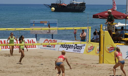Greek Beach Volleyball Masters began