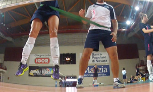 Exercise: Prevention in the eccentric phase of the jump in block