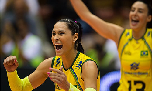 The Olympic Crowns from Brazil to start with a straight win in Womens WCH