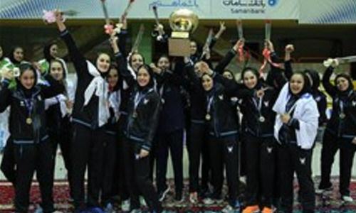 Islamic Azad University Champion of Women's Volleyball Super league