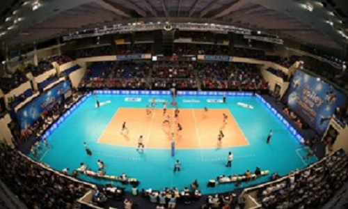 Volleyball show à la Paris Coubertin
