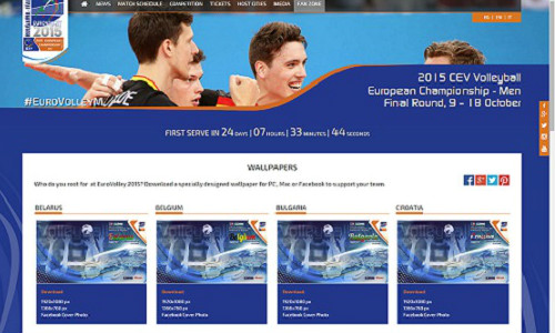EUROVOLLEY RELEASES FAN WALLPAPERS AND FB COVERS DEDICATED TO ALL PARTICIPANTS