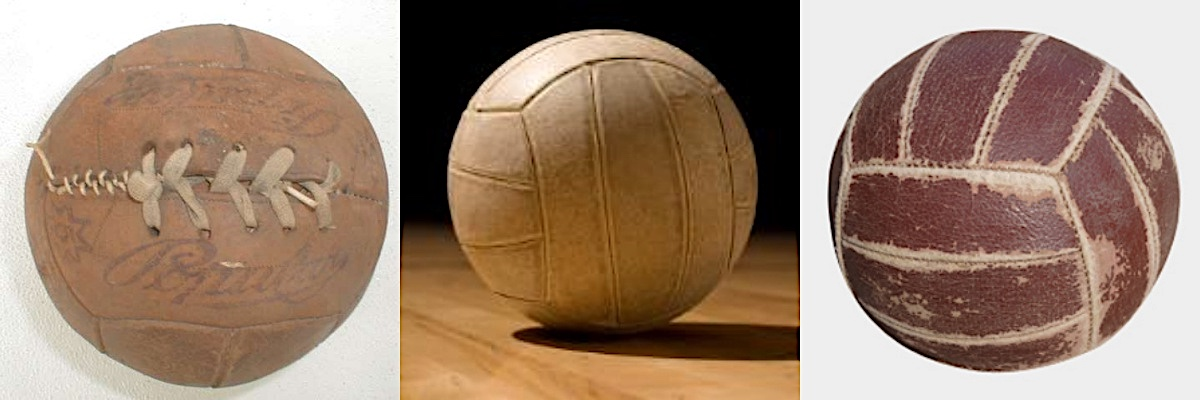 old volleyball balls