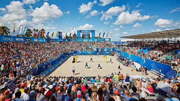 It's time for beach volleyball!