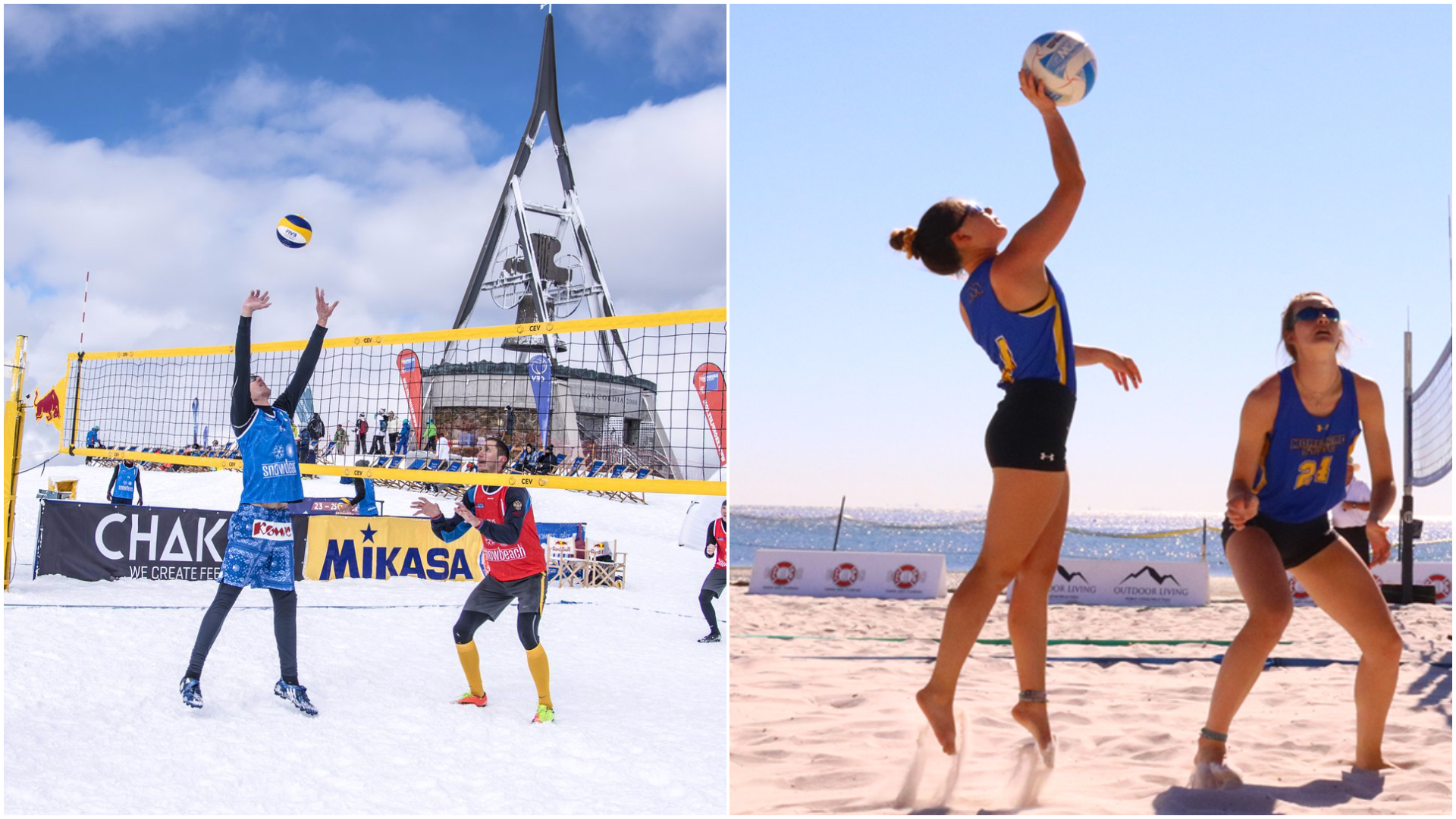 Difference Between Beach And Snow Volleyball Volleycountry