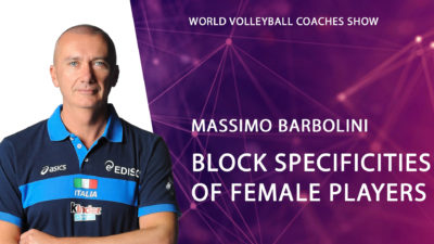 Massimo Barbolini Block training specificities of female players