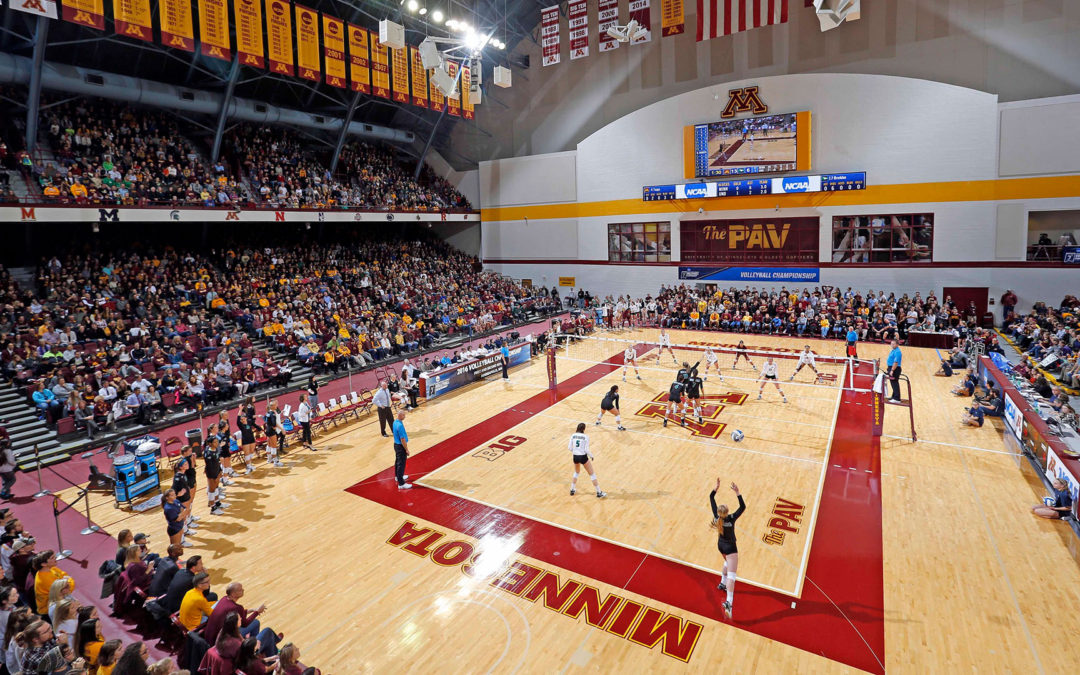 The Gophers Volleyball Team are Feeling Great inside their Remodelled Maturi Pavilion Stadium