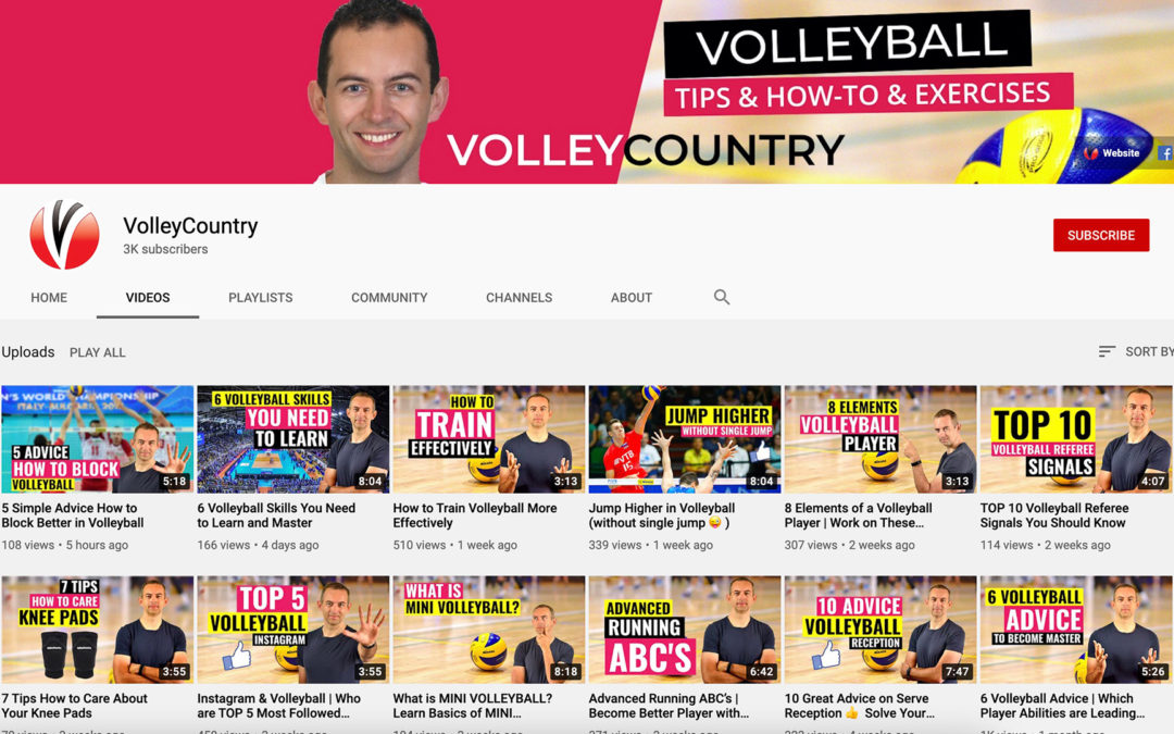 3 000 Volleyball Fans on Youtube channel 👍