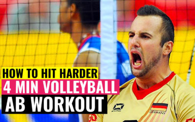 How to Hit Harder | 3 ABS Exercises & 4 min Volleyball AB Workout