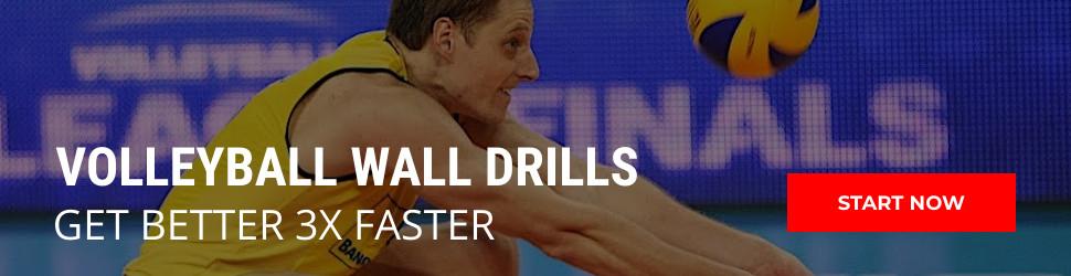 volleyball wall drills -