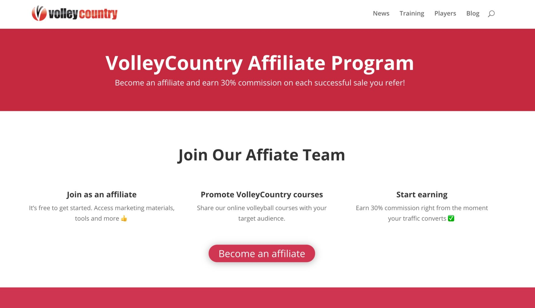 volleycountry affiliate program